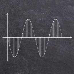 Audio-Interface - Künstlerische Darstellung einer Analog-Digital-Wandlung