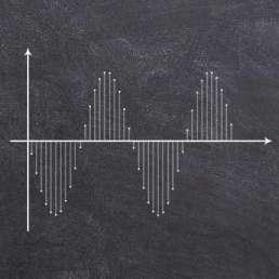 Audio-Interface - Künstlerische Darstellung einer Digital-Analog-Wandlung