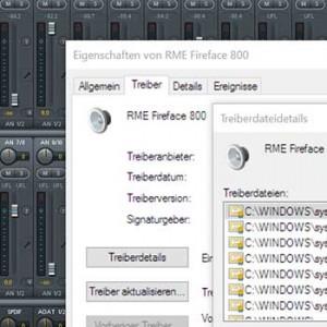 Audio-Interface - Bild einer Audiotreiber Oberfläche