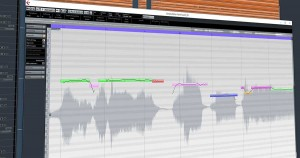 Editieren einer Tonaufnahme - Bild des Cubase Editing Fensters