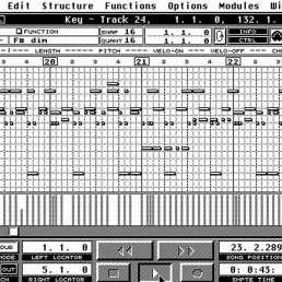 Geschichte und Musikproduktion - Cubase VST Benutzeroberfläche
