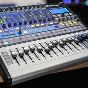 Geschichte der Musikproduktion - Bild eines Digitalmischpultes