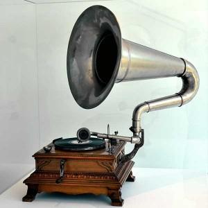 Geschichte der Musikproduktion - Bild eines Grammophones