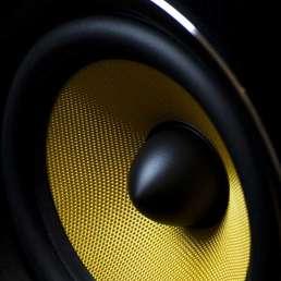 Geschichte der Musikproduktion - Bild eines Lautsprecherkonus