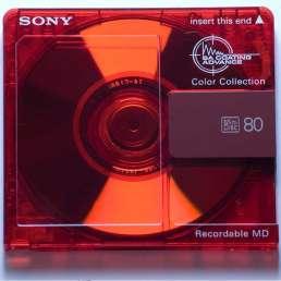 Geschichte der Musikproduktion - Bild einer Mini-Disc (MD)