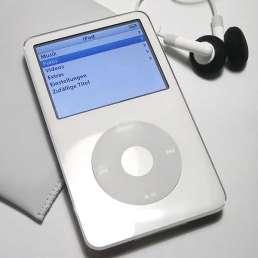 Geschichte der Musikproduktion - Bild eines iPod der 1. Generation