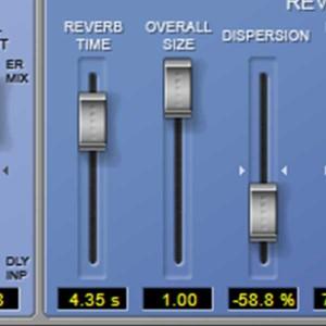 Der Reverb (Hall) - Raumgröße