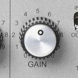 Der Mikrofon-Preamp (Vorverstärker) - Bild eines Gain-Reglers an einem Mic-Preamp