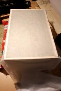 DIY Schallabsorber - Absorber verschließen