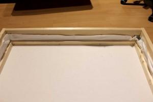 DIY Schallabsorber - Stoff gespannt