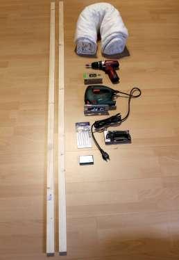 DIY Schallabsorber - Stoffbespannung Vorbereitungen